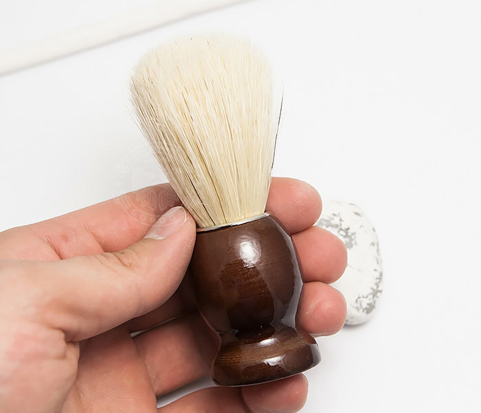 RAZ302-2 Деревянный помазок из щетины кабана фото 04
