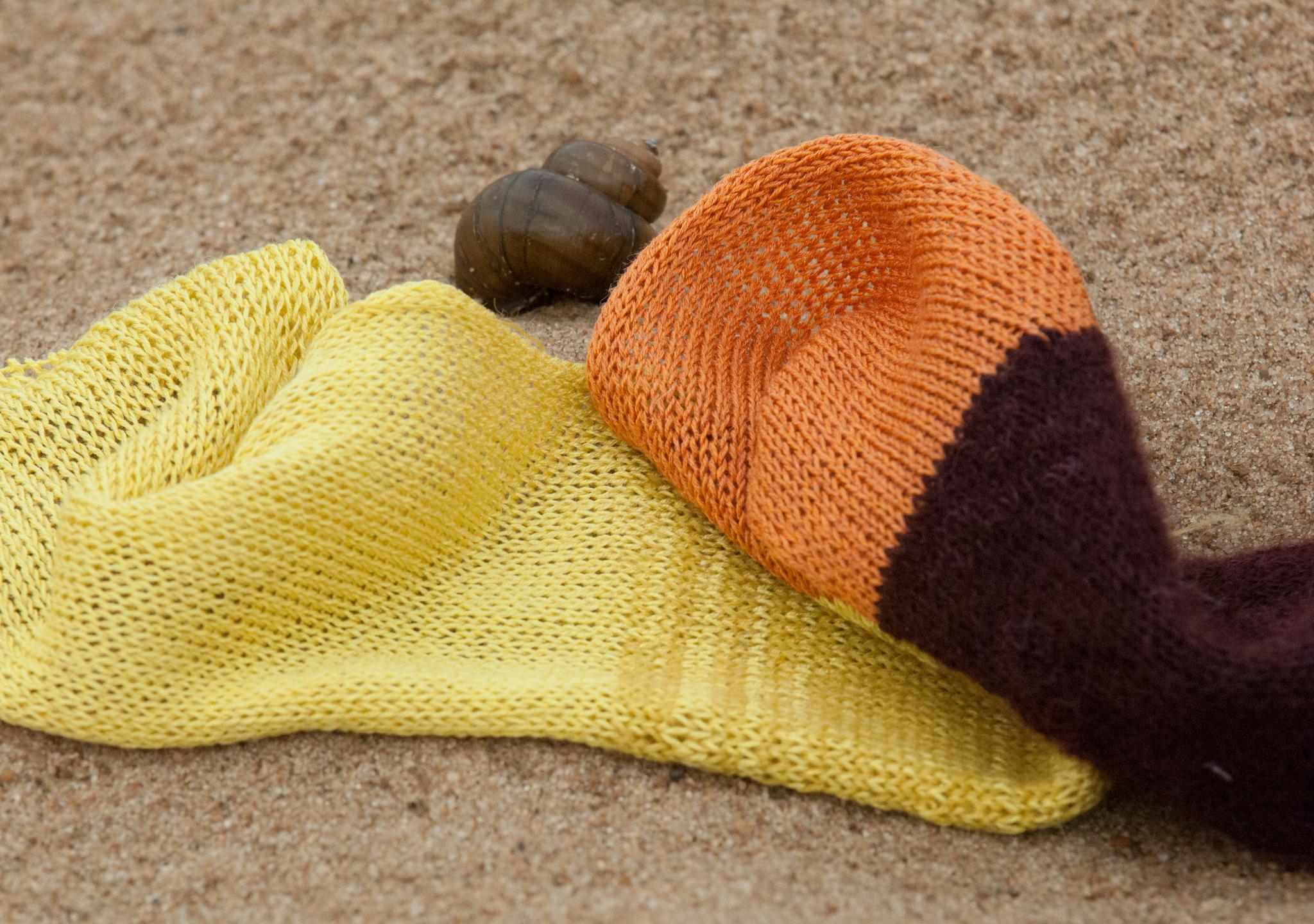 14204-Exodus Tech, шелк, Soleil,  полосатость на шелке - смесь с Prive (горчица), 14206-шелк, оранжевый