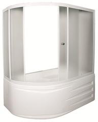 Шторка для ванны 1Marka Juliana 170х90х140 MW каркас белый, стекло Мислайт