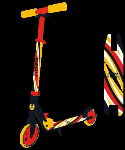 Самокат 2-колесный Flow 125 мм, красный/желтый