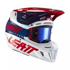 Шлем Leatt 8.5 Carbon V21.1 синий M (57 - 58 см) + очки Velocity 5.5