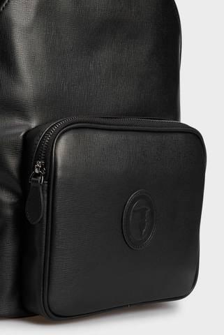 Мужской черный рюкзак Trussardi
