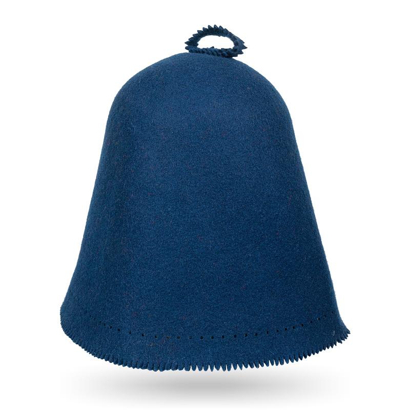 Шапка для бани темно-синяя Scandinavian цельновалянная