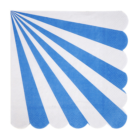 Салфетки в синюю полоску, большие