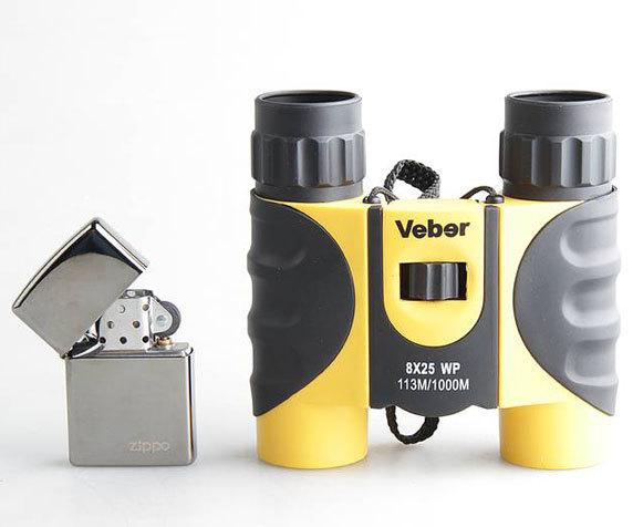 Сравнительные габариты водонепроницаемого Veber WP 8x25