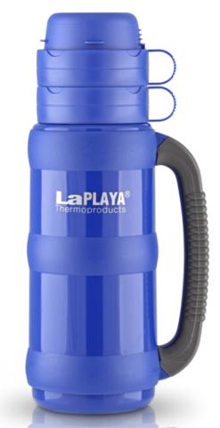 Термос LaPlaya Traditional 35-180 (1,8 литра) со стеклянной колбой, ярко-синий