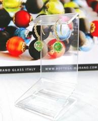 Серьги из муранского стекла со стразами Allegra Ca'D'oro Piccolo 030O