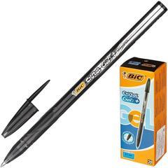 Ручка гелевая одноразовая Bic Cristal черная (толщина линии 0.4 мм)
