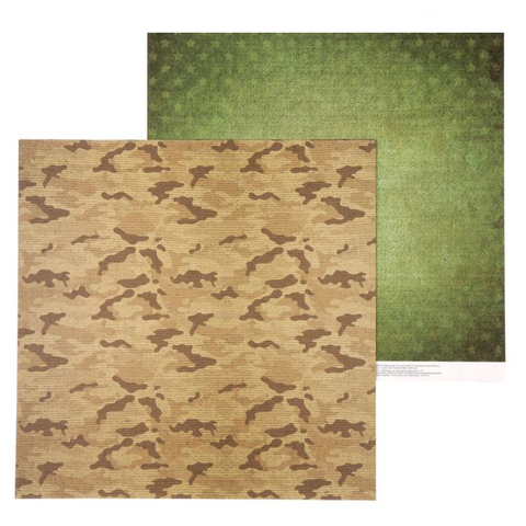 Бумага для скрапбукинга «Армейская палатка», 30.5 × 30.5 см, 180 г/м