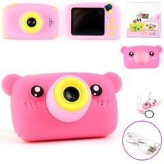 Детский фотоаппарат Мишка розовый