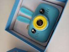 Детский фотоаппарат Зайчик голубой