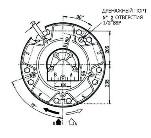 Гидромотор INM6-2100