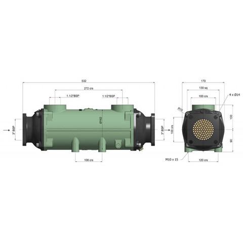 Теплообменник разборный 300 кВт, трубки купроникель BOWMAN