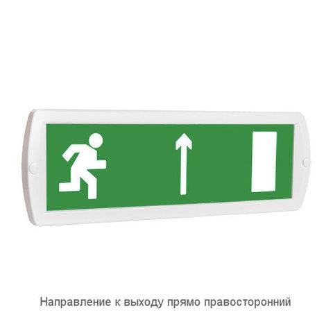 Световое табло оповещатель ТОПАЗ - Направление к выходу прямо правосторонний (зеленый фон)