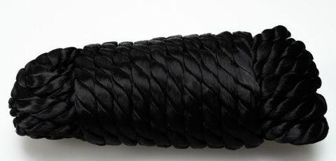 Черная нейлоновая веревка для связывания - 5,5 м.