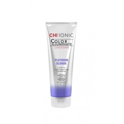 CHI Ionic Color Illuminate: Кондиционер оттеночный для волос Платиновый блонд (Platinum Blonde), 251мл
