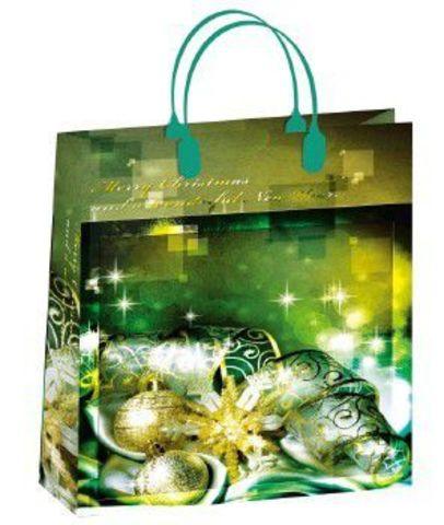 Подарочные пакеты 32x42+10 из мягкого пластика НГ