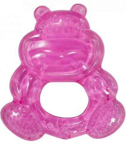 Canpol babies. Прорезыватель водный охлаждающий Улыбка, 0+, бегемотик розовый
