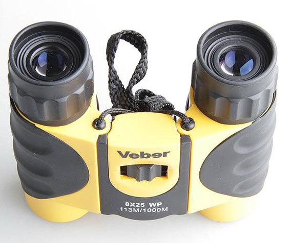 Резиновые наглазники Veber WP 8x 25 черно-желтого цвета