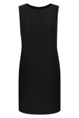 Черное платье в офисном стиле 081987