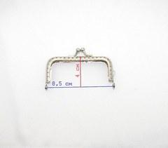 Фермуар (рамочный замок) прямоугольный , 8,5 см., под никель (выбрать вид)