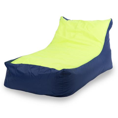 Бескаркасное кресло «Кушетка», Синий и лайм