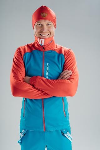 Разминочная лыжная куртка Nordski Premium Blue/Red мужская