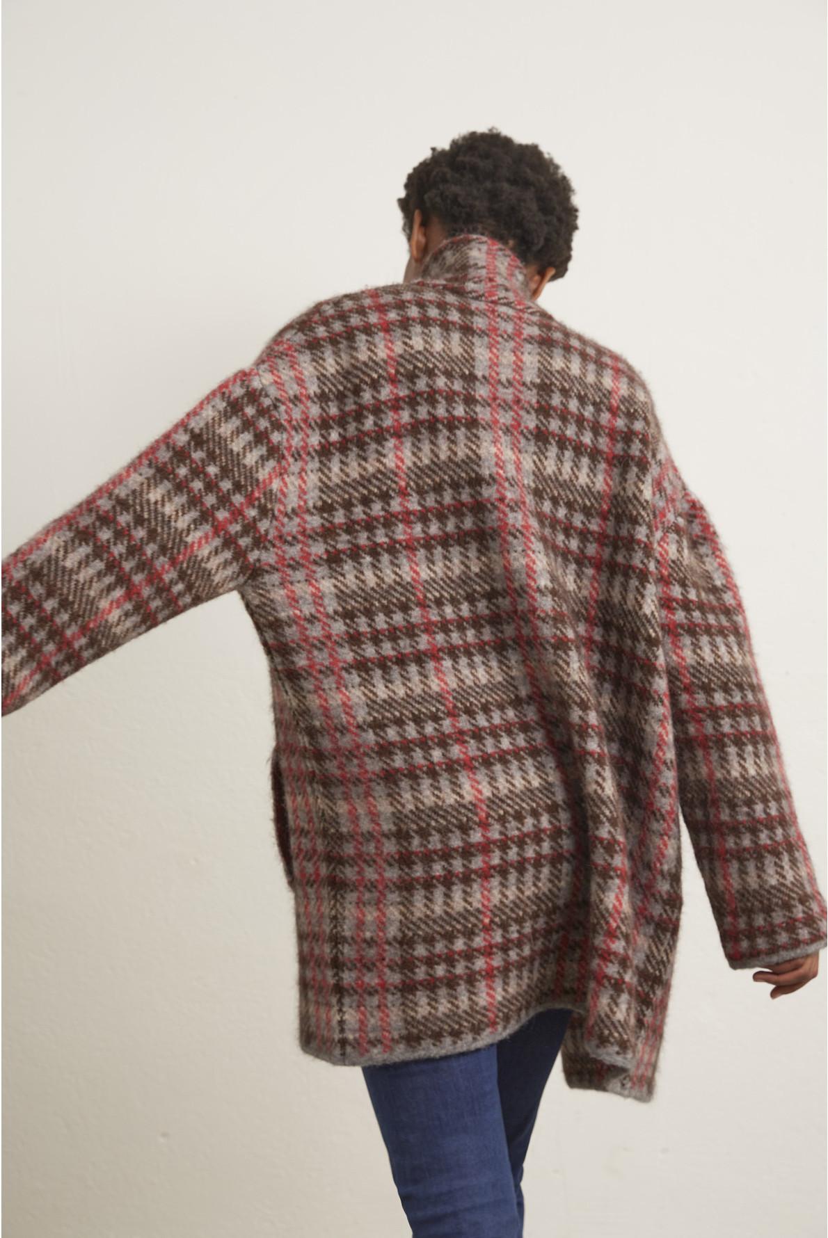 Шерстяное пальто oversize