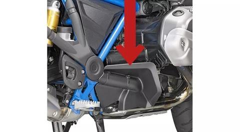 Защита ног от брызг BMW R 1200/1250 GS/GSA, черная