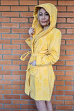 Короткий махровый халат с капюшоном Luna di Giorno
