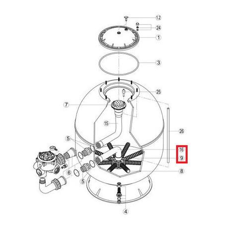 Коллектор с коленом Hayward S360SLE (RRFI0016.04R\RFD0310.72R) / 21124