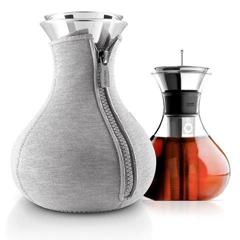 Чайник заварочный Tea maker в чехле 1 л светло-серый