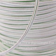 Сутаж, 4х1 мм, цвет - пастельно-зеленый, примерно 1 м