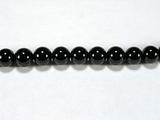 Бусина из шпинели черной, шар гладкий 6мм