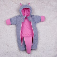Зимний набор на выпсику новорожденных Mini (розовый)
