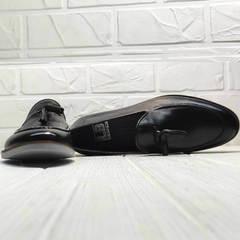 Классические мужские туфли лоферы черные Luciano Bellini 91178-E-212 Black.