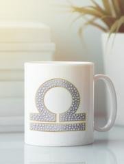 Кружка с изображением Знаки Зодиака, Весы (Гороскоп, horoscope) белая 005