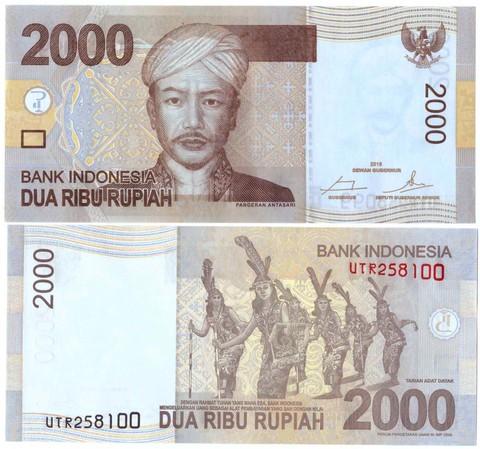 Банкнота 2000 рупий 2016 год, Индонезия. UNC