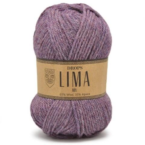 Пряжа Drops Lima 4434 фиолетовый меланж