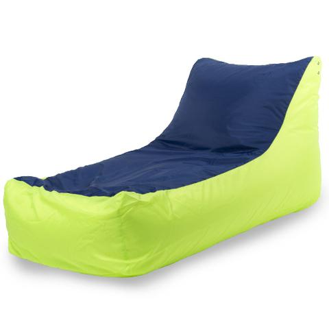 Бескаркасное кресло «Кушетка», Лайм и синий