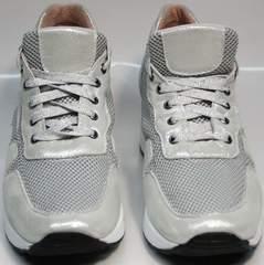 Туфли кроссовки женские Topas 4C-8045 Silver.
