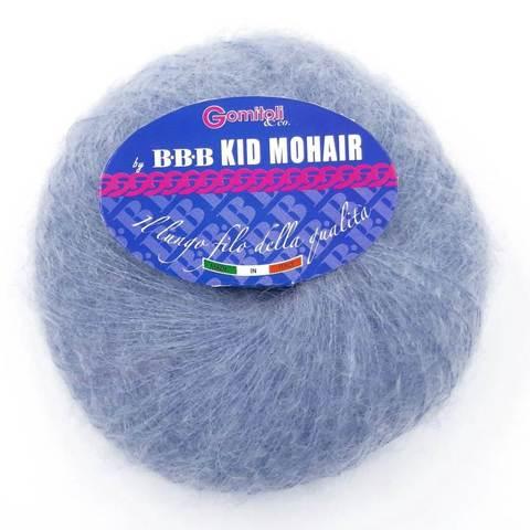 Пряжа BBB Filati Kid Mohair 8746 сине-серый