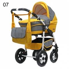 Детская коляска FENIX PCOF (3 в 1) (BartPlast) серый/желтый 07
