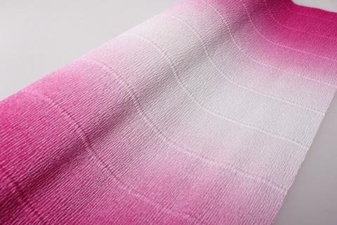 Гофрированная бумага с переходом. цвет 600/1 бело-малиновый, 180г, 50х250 см, Cartotecnica Rossi (Италия)