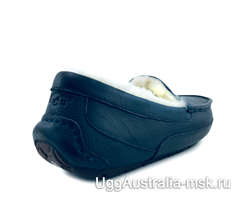 UGG Mens Ascot Leather New Dark Blue