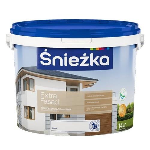 Акриловая эмульсионная краска для фасадов. Śnieżka Extra Fasad