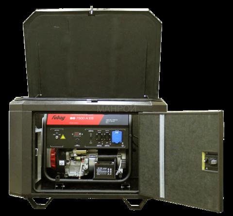 Готовый комплект аварийного питания на 7 кВт бензиновый генератор FUBAG BS 7500A ES в миниконтейнере SB1200 с АВР (автоматический запуск генератора)