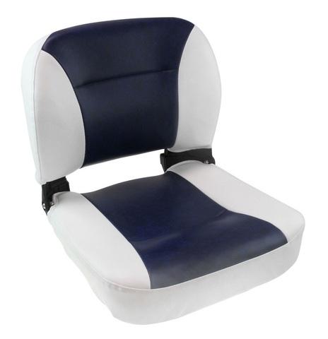 Сиденье мягкое раскладное, бело-синее