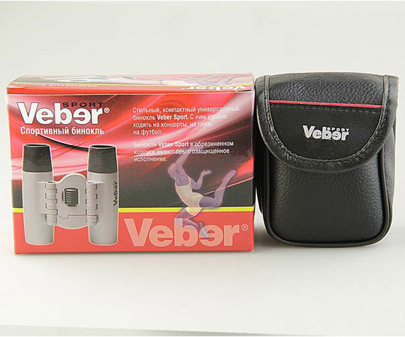 Бинокль Veber Sport БН 12x25 silber - фото 4