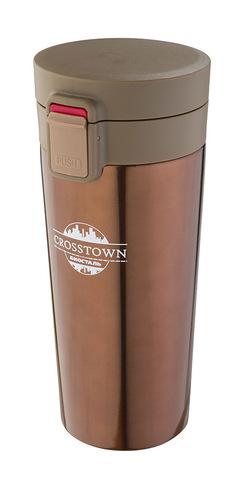 Уценка! Термокружка Biostal Crosstown (0,4 литра), шоколадная